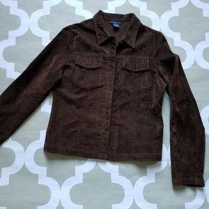 Anthropologie Brown Rayon Jacket size 8, M